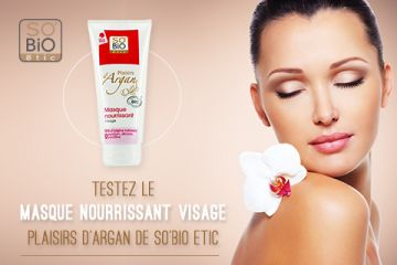 Masque Nourrissant Visage Plaisirs d'Argan SO'BIO étic