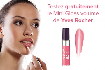 Test de produit Mini Gloss volume Sexy Pulp de Yves Rocher
