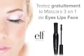 Mascara 3 en 1 Very Black e.l.f. � tester